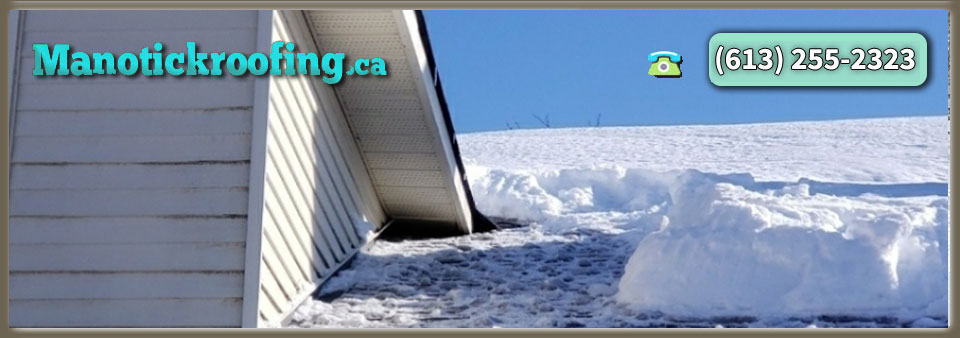 Manotick Residential And Commercial Snow Plowing Roof